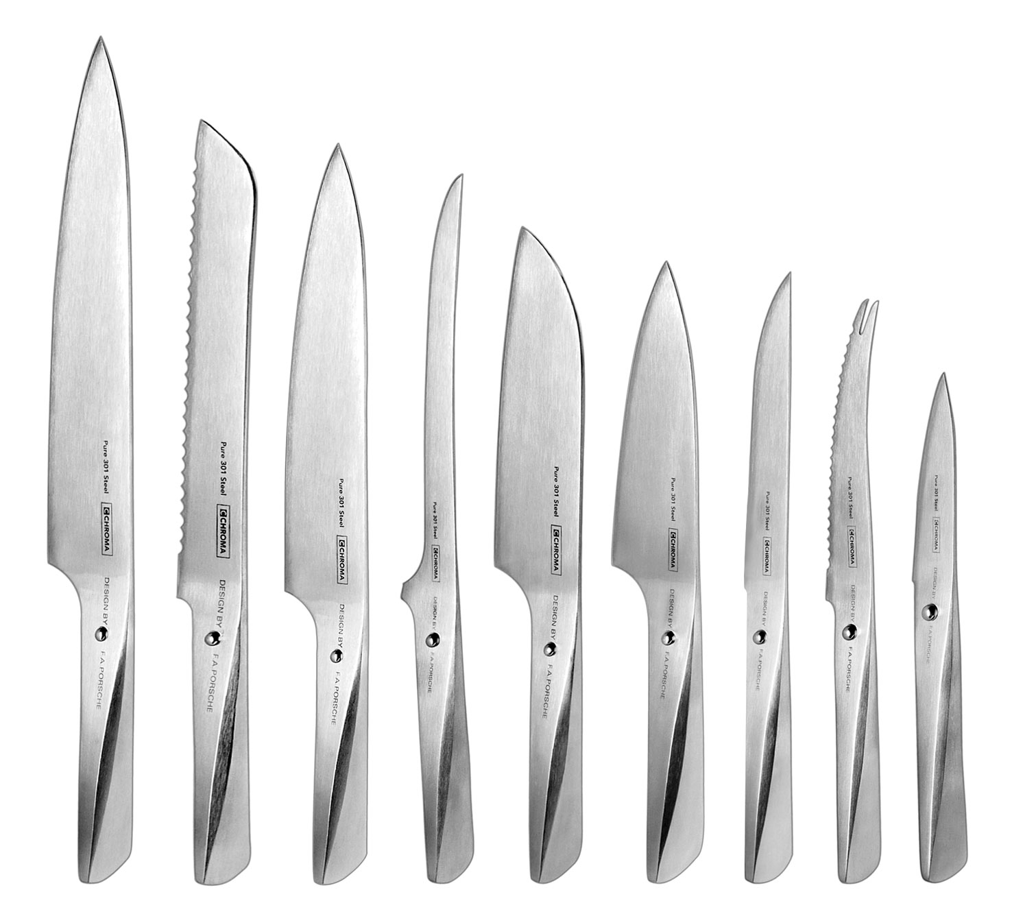 Chroma Type 301 10 Piece Knife Block